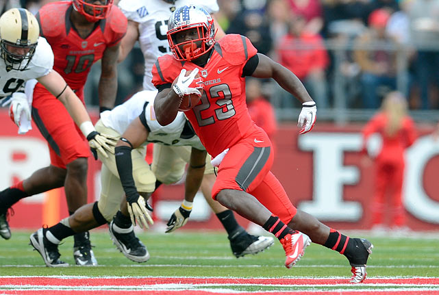 Jamison built on his impressive freshman season in 2011 with 1,075 yards in 2012 despite suffering an ankle injury late in the season. Jamison was critical to Rutgers' offense, leading the team in yards from scrimmage by nearly 700. He's small and quick, which can be a powerful combination, though he probably won't live up to the legacy of another elite Rutgers running back: Ray Rice.