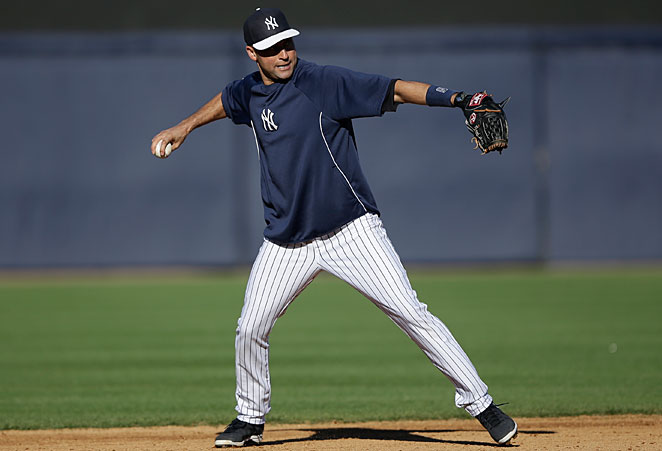 Derek Jeter played his first game in the field Wednesday since breaking his ankle in October.