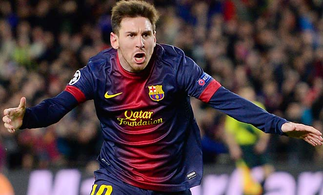 Lionel Messi scored in the fifth and 39th minutes for Barcelona, which is now in the quarterfinals.