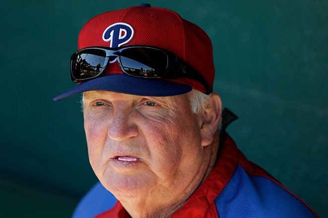 Charlie Manuel has guided the Phillies to five NL East titles, two pennants and one World Series title.