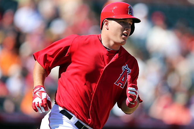 Outfielder Mike Trout will likely be the first player selected in most fantasy baseball drafts this spring.