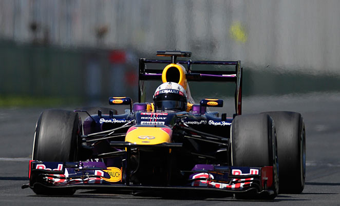 Sebastian Vettel gave notice that his Red Bull team will emerge from preseason testing on top.