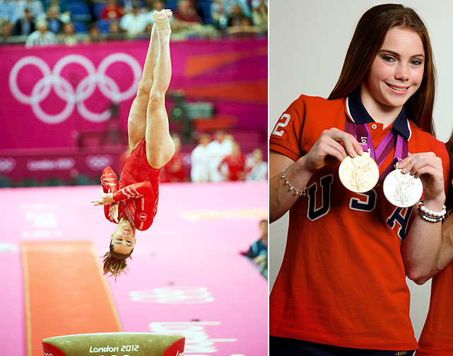Maroney may be more famous for her displeasure with her silver medal, but the gymnast is still a gold medalist, helping the Fierce Five win the team competition at the 2012 London Games with a vault score of 16.233, the highest score in the competition. She took the silver in the individual vault final when she fell on her second vault.