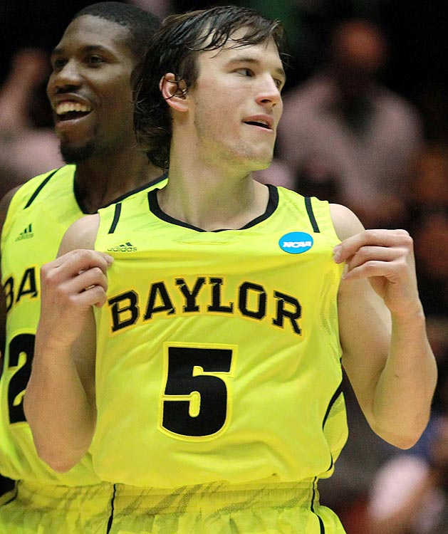 Baylor's basketball team sported these blindingly-fluorescent uniforms in March 2012.