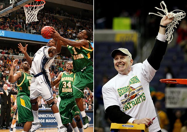 George Mason could have been forgiven for deciding two upsets against sixth seed Michigan State and third seed UNC were enough for one tournament. But Jim Larranaga's team proved just as unintimidated by top seeded UConn, and, after a thrilling 86-84 overtime victory, joined the nation's basketball elite in the Final Four.