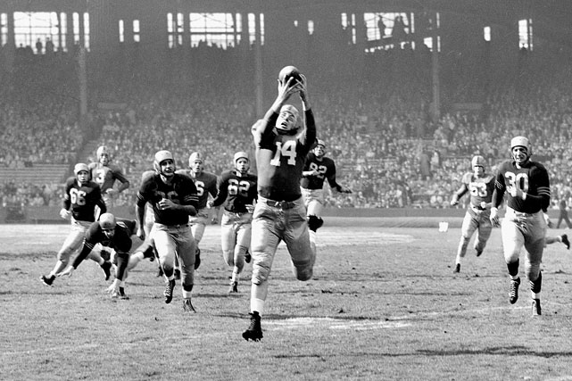 Lattner won the 1953 Heisman Trophy despite not even leading Notre Dame in the key statistical categories. Instead, he was simply so productive across the board ? 651 rushing yards, 204 receiving yards, 321 kick return yards on just eight returns, 103 punt return yards and four interceptions ? and helped lead the Fighting Irish to a 9-0-1 record and a national title. The two-time Maxwell Award winner player just one season in the NFL before injuring his knee playing a game while on military service.