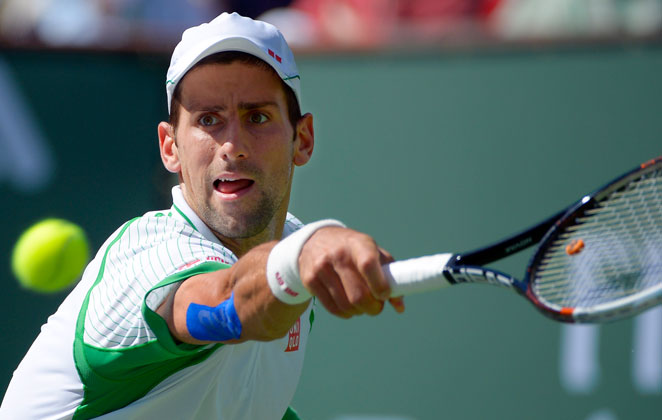 No. 1 seed Novak Djokovic dispatched Jo-Wilfried Tsonga in straight sets, 6-3, 6-1, Friday.