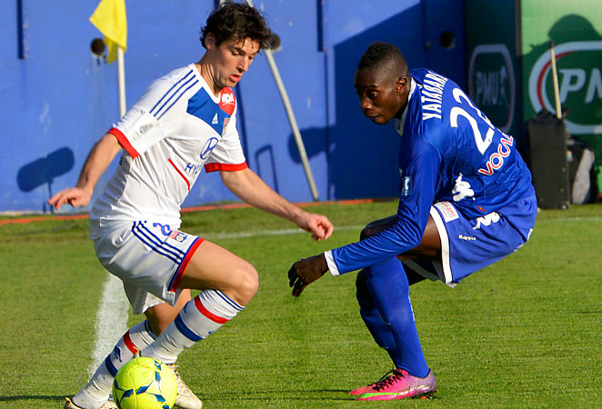 Lyon's Maxime Gonalons couldn't help his team as they lost 4-1 to Bastia, denting their title hopes.