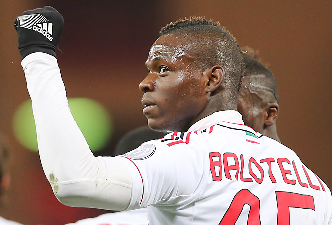Mario Balotelli scored his fifth goal of the season in AC Milan's last match, a 2-0 victory over Genoa.