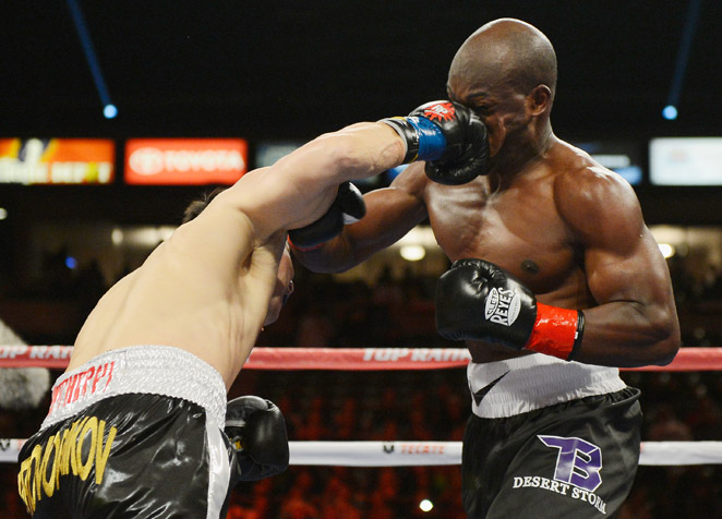 After nearly falling in the first two rounds, Timothy Bradley recovered to beat Ruslan Provodnikov.