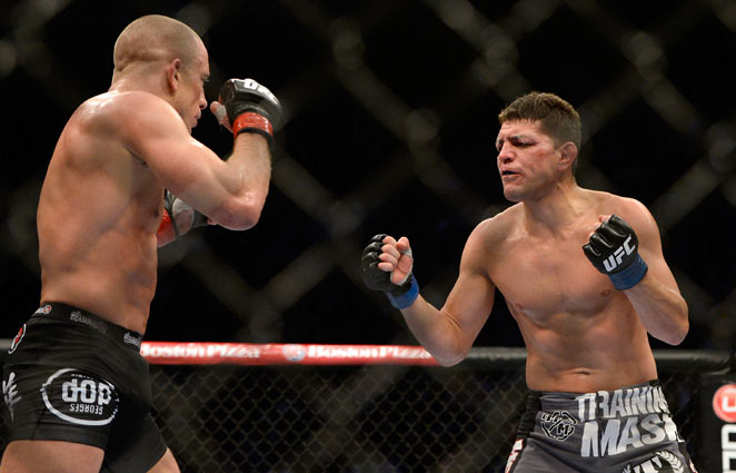 Nick Diaz lost by unanimous decision to Georges St-Pierre at UFC 158 on Sunday.