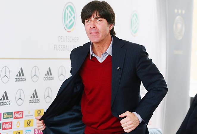 Joachim Loew and Germany lead their World Cup qualifying group with 10 points in four games.
