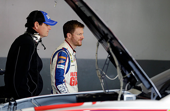 Comfort with his car and chemistry with crew chief Steve Letarte (left) have put Junior on an early roll.