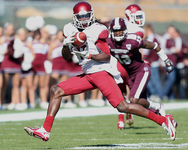 As the rest of Arkansas regressed, Hamilton thrived in 2012. The senior receiver caught 90 passes for 1,335 yards in 2012, nearly 800 more yards than he had a year earlier when Jarius Wright stole the spotlight. He's capable of picking up yards after the catch, but Hamilton's biggest obstacle is securing the catch. He has been plagued at times by drops.