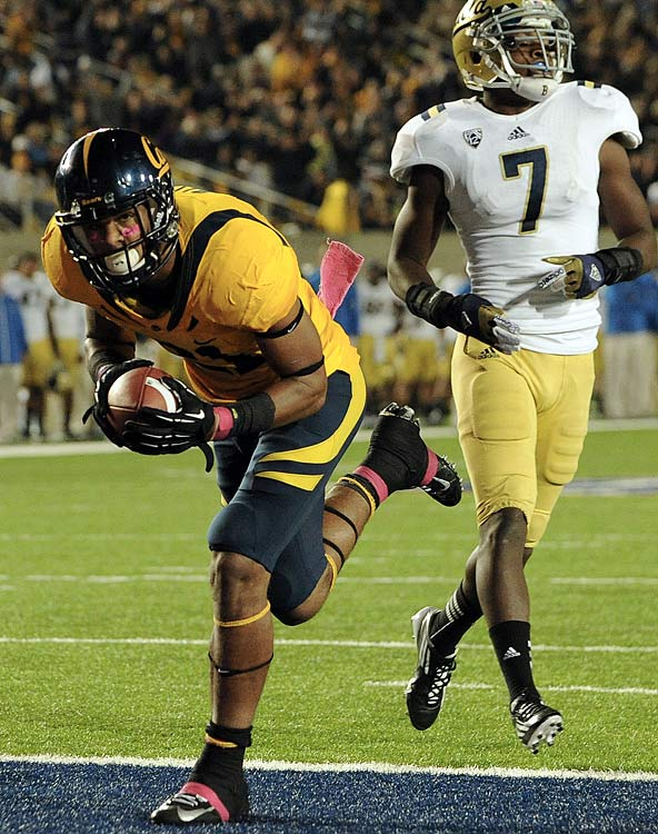 Cal's quarterback issues limited Allen's ability to produce in 2012, but the talent is still there in the 6-foot, 2-inch receiver. Allen had 98 catches for 1,343 yards in 2011 but just 61 receptions and 737 receiving yards in 2012. He has solid hands, can out-jump defensive backs for lofted passes and is a solid route-runner.
