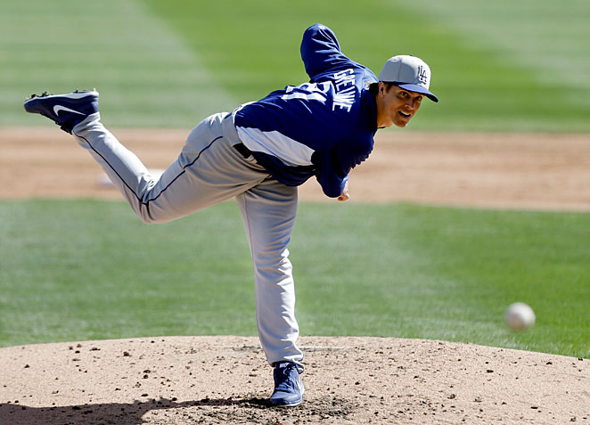 Zack Greinke has made just two appearances for the Dodgers this spring because of an elbow problem.
