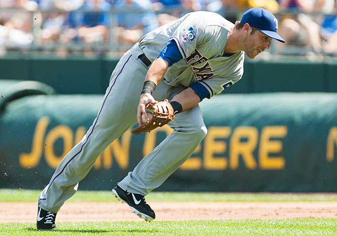 Mike Olt was looking to make the Rangers as a corner infielder and outfielder.