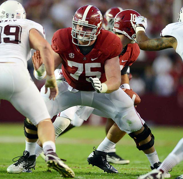 NFL teams will appreciate Jones' versatility as the 2011 Outland Trophy winner has played center, guard and tackle at Alabama. He'll likely play center in the NFL after excelling there as a senior, winning the Rimington Trophy. Jones is technically strong and has great awareness but lacks the athleticism of the players above him on this list.