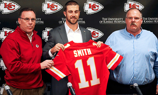 First-year GM John Dorsey and the Chiefs traded for Alex Smith before free agency, but didn't stop there.