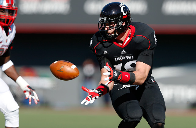 Kelce had a breakout year in 2012, catching 45 passes for 722 yards and eight scores for the Bearcats. He caught just 13 passes the year before. Kelce can create separation and is a quality run blocker. He was suspended for the entire 2010 team for a violation of team rules.