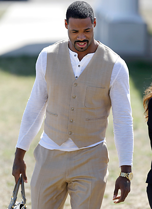Titans receiver Kenny Britt arrives at a Kentucky courthouse Tuesday before being found not guilty of DUI by a federal magistrate.