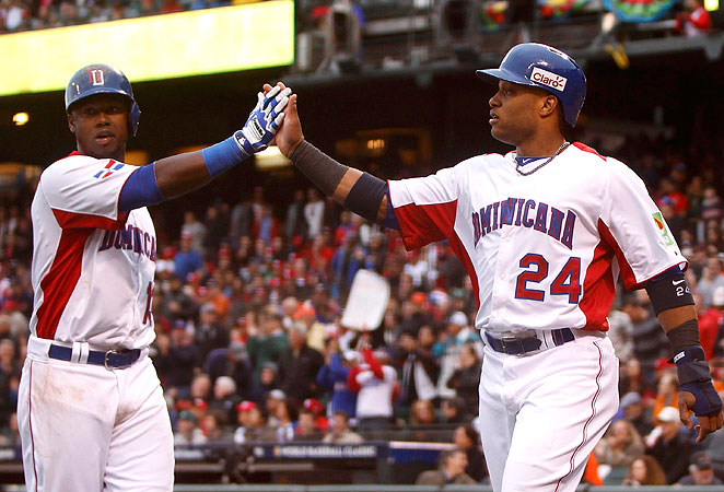 Hanley Ramirez (left) and Robinson Cano contributed to the Dominican Republic's gregarious mood.