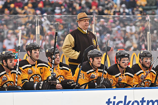 Bruins coach Claude Julien rocked the Toe Blake look by donning a fedora.
