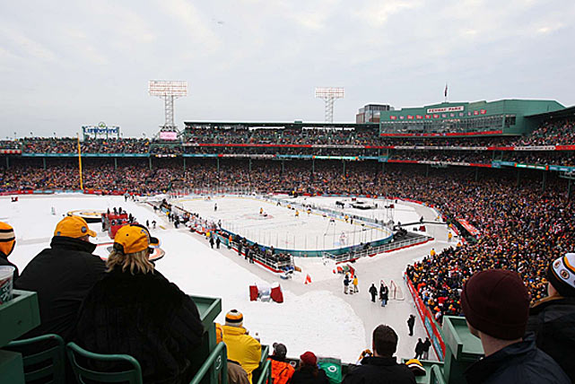 The game's retro feel continued with the next edition played at Fenway Park. A sellout crowd of 38,112 enjoyed almost balmy 40-degree weather as the Bruins did battle with the visiting Flyers. The snow and rain that were forecast never materialized.