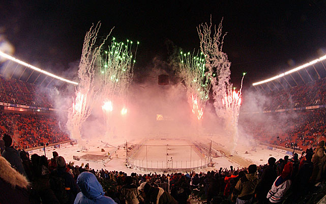 The evening concluded with a fireworks display, and while the event went over quite well locally, it would be five years before the NHL would venture outdoors again.