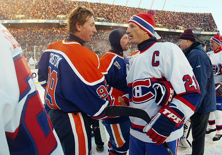 "Wayne Gretzky and Guy Carbonneau were among the Oilers and Canadiens greats who skated in an alumni game. The Great One's squad won, 2-0. Gretzky called the experience ""memorable"" and Habs Hall of Famer Guy LaFleur told the CBC, ""It felt like we were 10 again, but with the legs of 50-year-olds."""