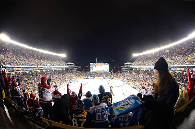 Despite the elements, the game drew a crowd of 68,111 and a national TV audience of 4.5 million.