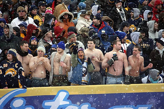It was perfect 33-degree weather for hockey as far as Buffalo's passionate fans were concerned.