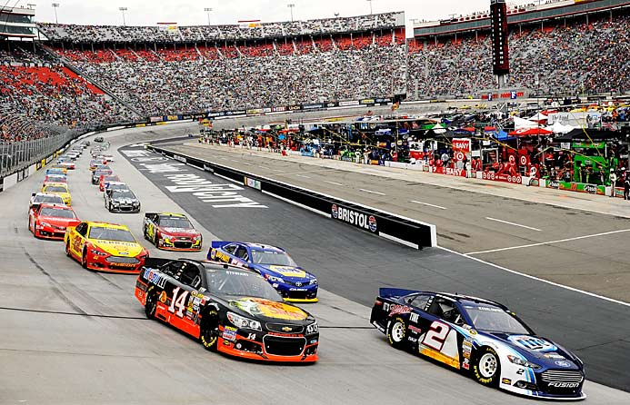Still going strong: Defending champ Brad Keselowski (2) has yet to win, but he's leading in the points.