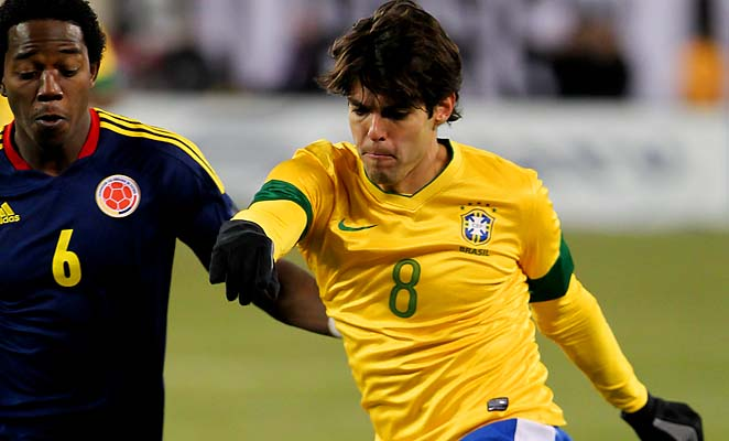 Kaka was a bench player on the 2002 World Cup winner coached by Luiz Felipe Scolari.
