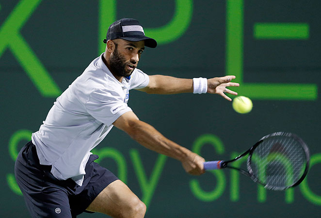 James Blake defeated fellow American Ryan Harrison 6-2, 6-2 to move on at the Sony Open.