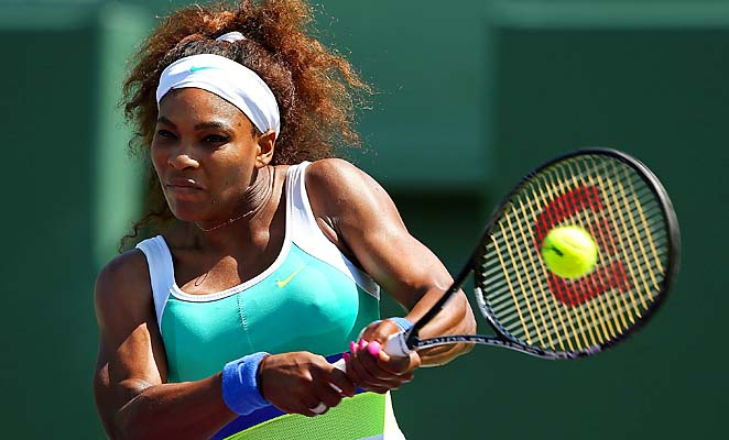 Serena Williams is playing her first event since becoming the oldest No. 1 in WTA history.
