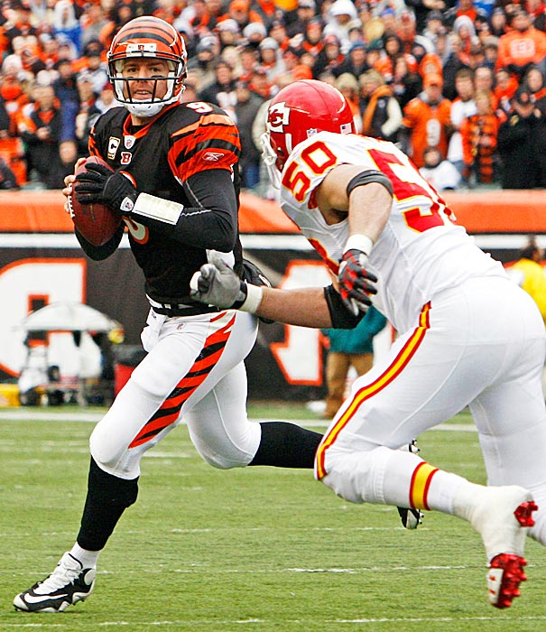 In his 11 years in the NFL, Carson Palmer has had only one Birthday Game, and it was bittersweet. He threw two touchdown passes in a 17-10 victory over Kansas City that clinched a playoff spot for the Bengals for the second time in 19 years. However, the game was played only five days after the team had flown to Louisiana to bury former teammate Chris Henry, and hearts were understandably still heavy.