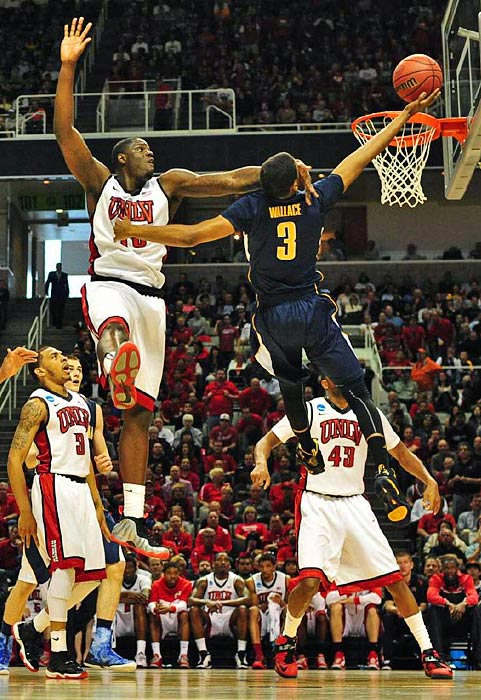 UNLV's Anthony Bennett was whistled for a flagrant foul on this play against Tyrone Wallace.