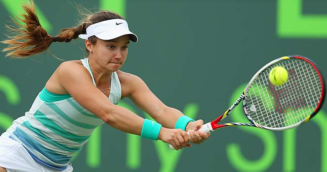 American Lauren Davis, 19, is ranked No. 81 in the world.