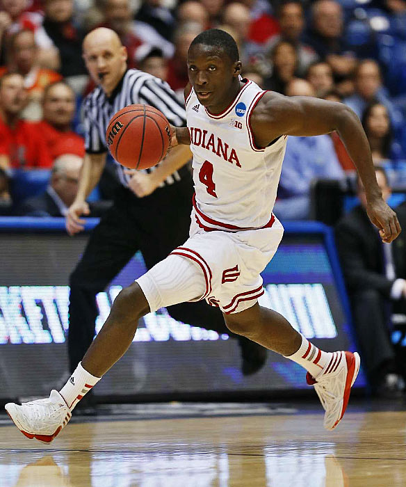 Indiana guard Victor Oladipo drives down the floor in the Hoosiers' NCAA tournament game Friday.