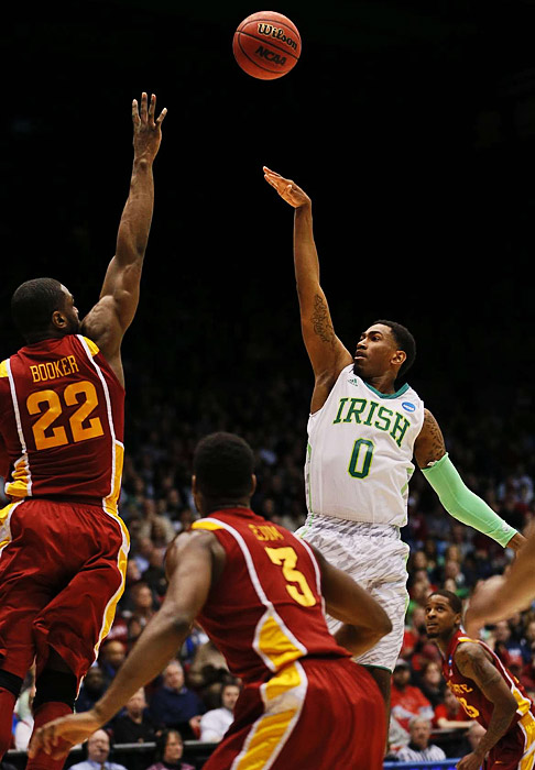 Notre Dame's Eric Atkins attempts a shot against Iowa State in the NCAA tournament on Friday.