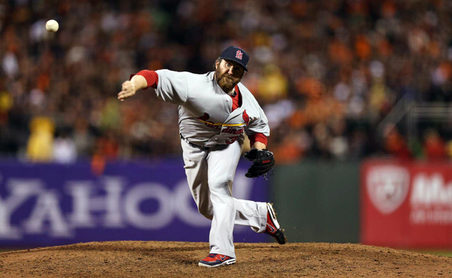 Jason Motte converted 42 saves and had a 2.75 ERA last season with the Cardinals.