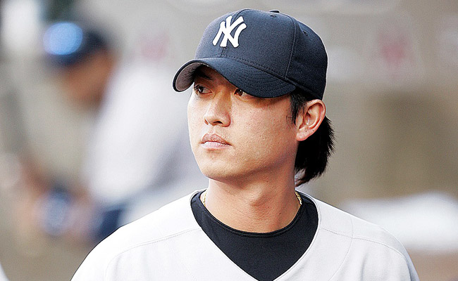 Chien-Ming Wang pitched for the New York Yankees from 2005-09.