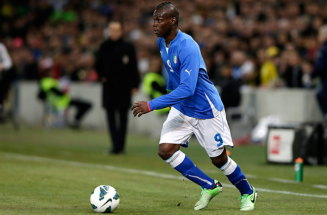Mario Balotelli continued his strong international form after a stunning goal against Brazil on Thursday.