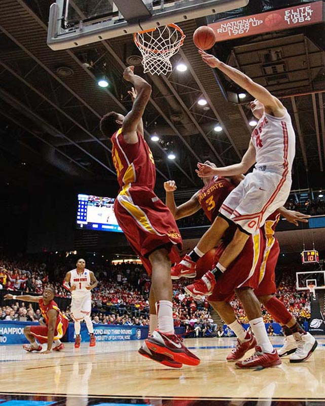 <bold>Defeated Iona 95-70</bold> <bold>Defeated Iowa State 78-75</bold> <bold>Next: Arizona </bold>(<bold><italics>SI's live bracket</italics></bold>) <bold>Craft (pictured) finished with 18 points while Deshaun Thomas led the Buckeyes with 22 points. </bold>