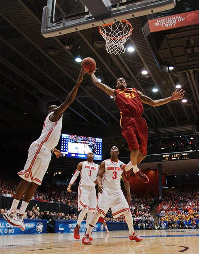 <bold>Defeated Iona 95-70</bold> <bold>Defeated Iowa State 78-75</bold> <bold>Next: Arizona </bold>(<bold><italics>SI's live bracket</italics></bold>) <bold>Will Clyburn throws down against the Buckeyes. The Cyclones led the nation in 3-pointers, with nearly 44 percent of their attempts coming from behind the arc. Against Ohio State, they missed eight of their first 12 from behind the arc and finished 12-of-25.</bold>