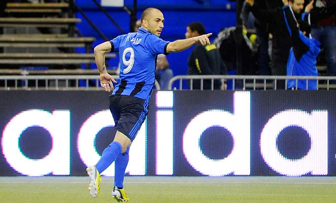 Marco Di Vaio scored the only goal in the Impact's win over the Red Bulls on Saturday.