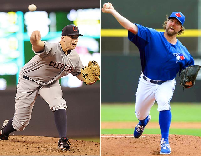 Hope springs eternal in baseball, so why not take an early look at two teams that hope to rank among the most improved by season's end. Most likely the Indians won't be a serious challenger to the Tigers in the AL Central, but the Blue Jays could be in the mix in the East. If that doesn't move you, just tune in to watch R.A. Dickey's knuckleball as he'll face Justin Masterson in this game.