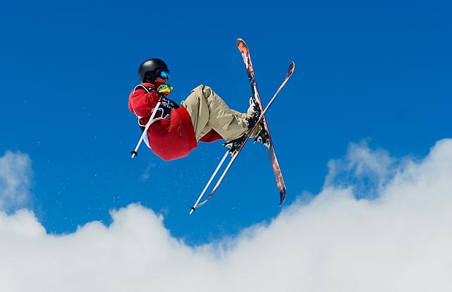 Victor Berard of France competes during the Slope Style race of the Snowboard and FreeStyle World Cup Super finals at Sierra Nevada ski resort near Granada on March 23. Lyman Currier of the U.S. won the race ahead of second-placed Swedish Oscar Wester and third-placed Norwegian Felix Stridsberg-Usterud.