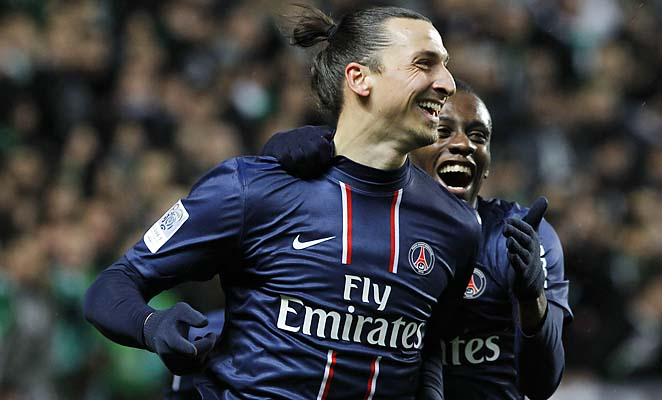 Zlatan Ibrahimovic missed a spot kick as PSG fell out of the French Cup against Evian on Wednesday.